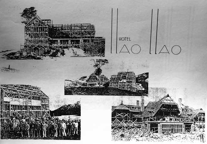 Construction du somptueux hotel Llao Llao en 1937
