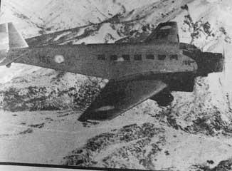 Ligne aerienne LASO volant de Buenos Aires à Bariloche en 1945
