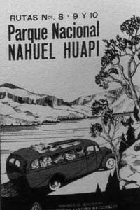 Publicité 1938 sur le Parque Nacional Nahuel Huapi