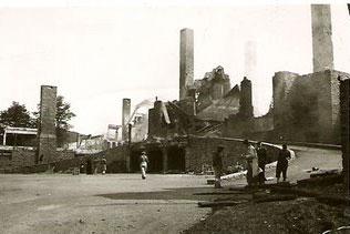 Ruines de l'hotel après l'incendie de 1939